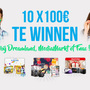 10x 100€ te winnen by Dreamland, MediaMarkt ou Fnac !